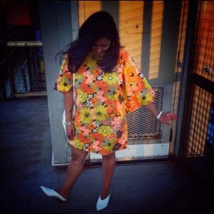 VNT Flower power dress handmade